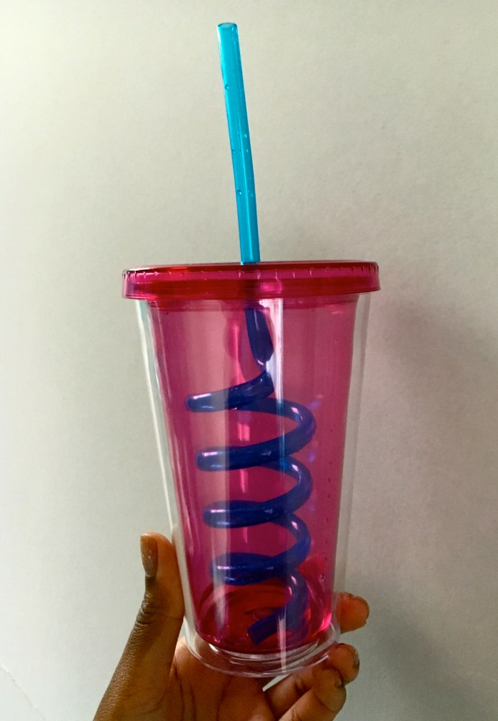 """To help my New Years Resolution to """"Drink More Water"""" I bought a new water cup. Click through to see the rest of my resolutions in my post."""