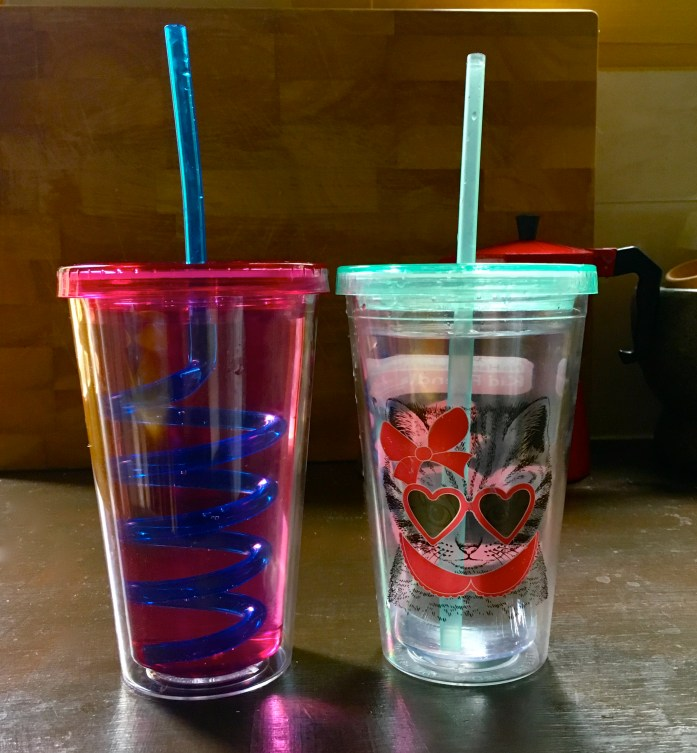 My tip to try and drink more water, have 2 water cups! See the rest of my New Years resolutions in my latest post