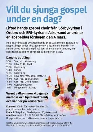 Gospelprojekt Askersund vt2017