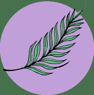 Illustration av ett palmblad