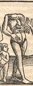 Blemmyae, 1544woodcut in the Cosmographia bySebastian Münster.