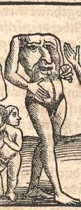 Blemmyae, 1544woodcut in the Cosmographia bySebastian Münster.