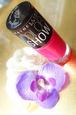 Maybelline Color Show Nail Polish Hooked on Pink - Swatch and Review
