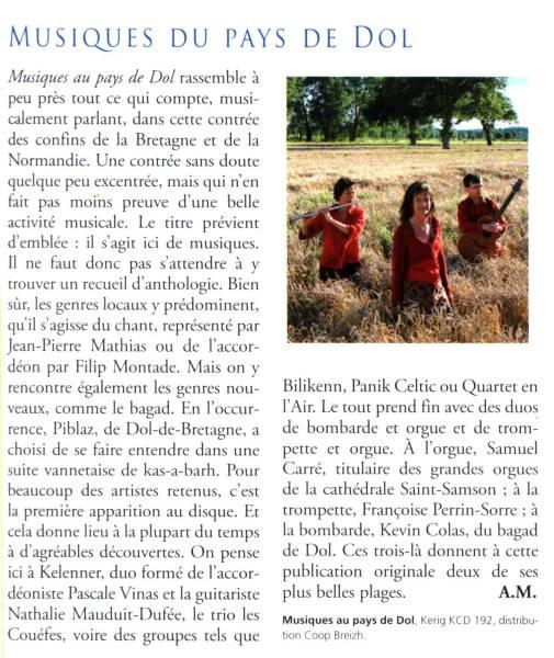 Ar men, Musique au pays de Dol, septembre 2008