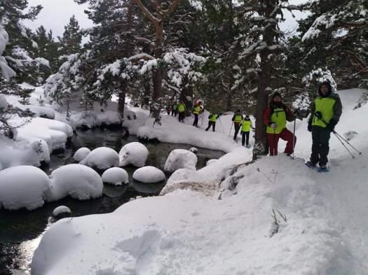 """De camino a Laguna Verde. Punto de Nieve en Soria """"Santa Inés"""""""