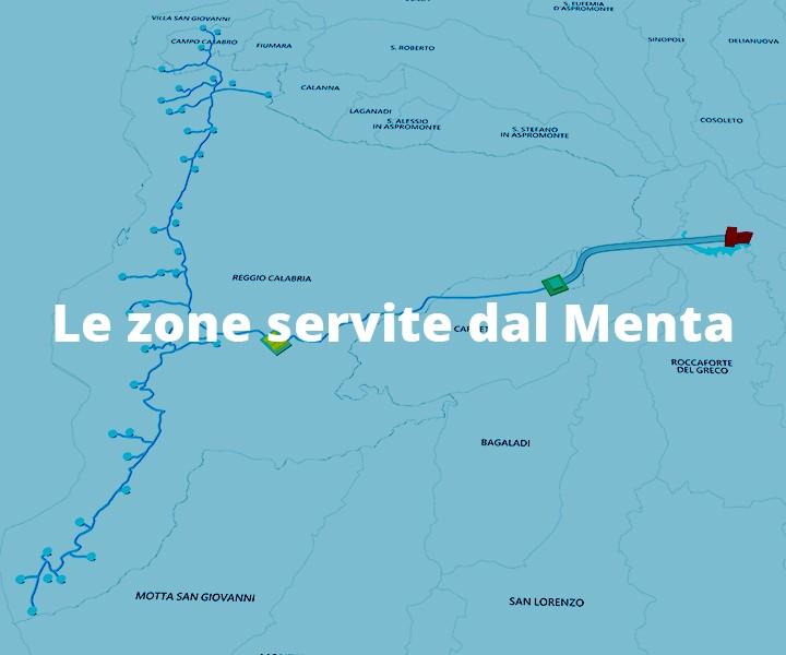 null le zone servite dal menta Le zone servite dal Menta header mobile zone