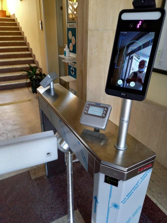 Termo scanner negli uffici Sorical c82150ef 2259 4a04 8fc6 16ca4c39dae9
