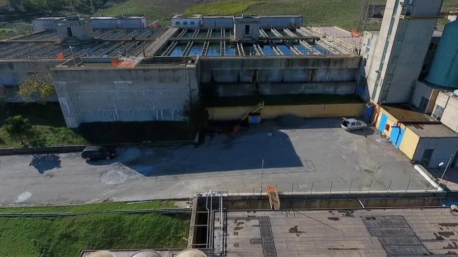 Avaria elettrica all'impianto Neto di Crotone vasche neto