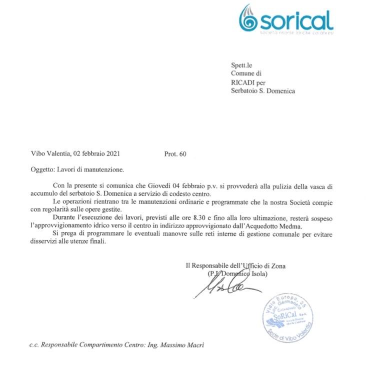 Programmato pulizie vasche serbatoi a Ricadi, Tropea e Spilinga image