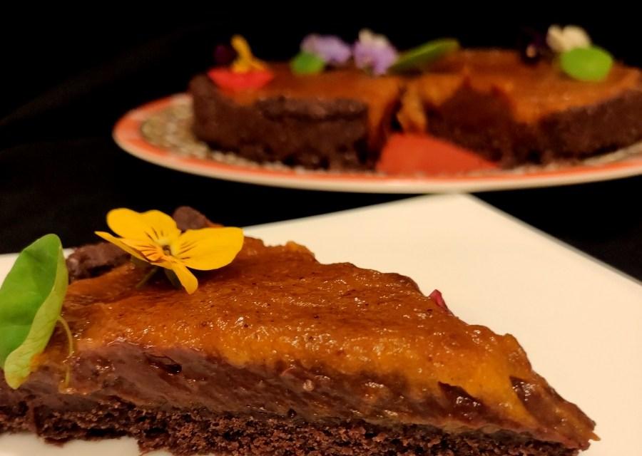 Tarta cu dovleac si ciocolata