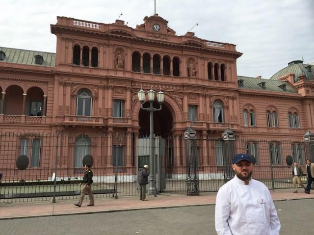 Dante Liporace at Argentina's Pink House.