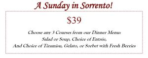 Best Italian Restaurant for Sunday Brunch in Houston is Sorrento with a great menu, stellar service and incredible Italian cuisine.