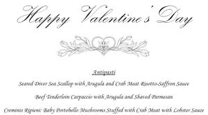 Best Italian Restaurant for Valentine Dinner in Houston is Sorrento with a great menu, stellar service and incredible Italian cuisine.