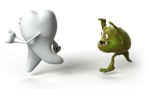 cárie dental pega.