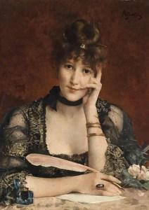 "Image: ""The Letter,"" by A Stevens. Public domain."