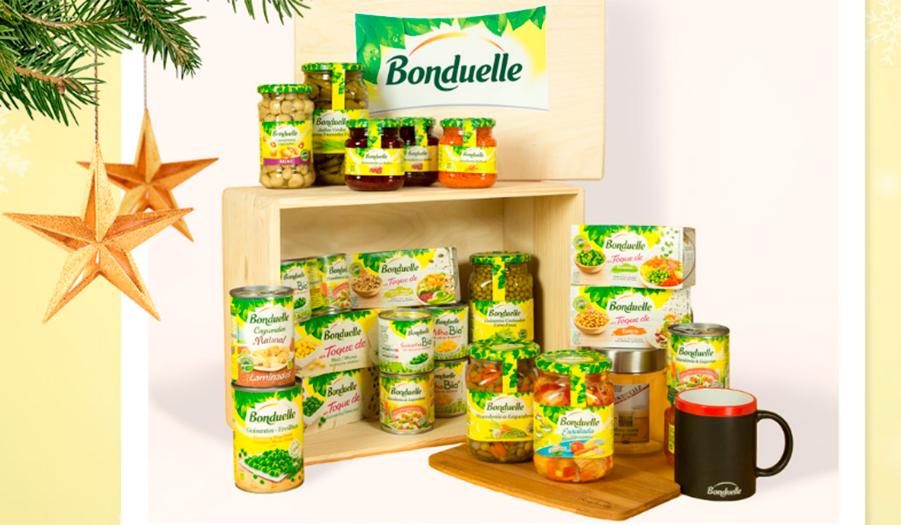 Sortean una cesta de productos Bonduelle