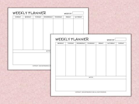 Weekly Planner free printables