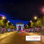 Visual Paris Arc de Triomphe Champs Elysées de noche