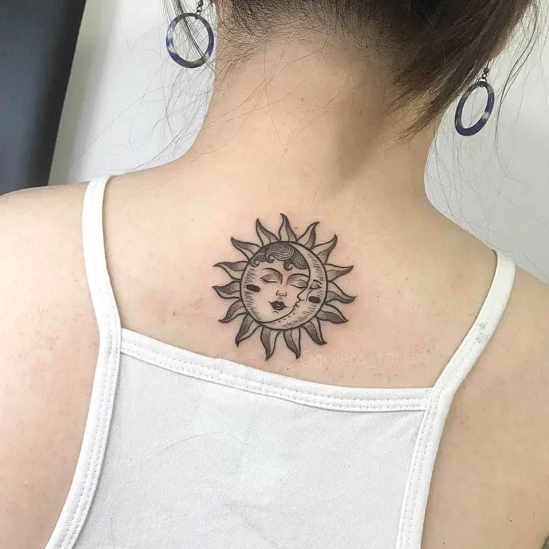 25 Sun And Moon Tattoo Design Ideas