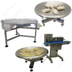 Stainless steel rotating accumulation tables
