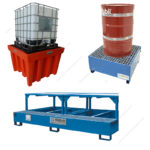 Collection tanks for drums and IBC containers