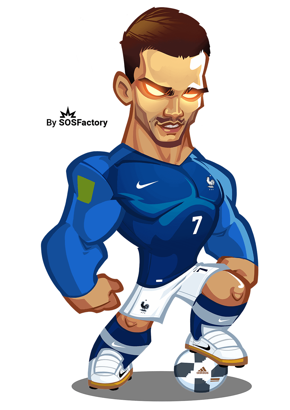 Worldcup Russia 2018 Mascotization Cartoon Mascot