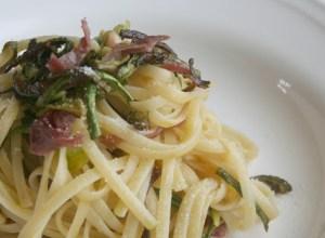 Linguine con Zucchine e Bresaola