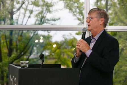 Tim McCormick giving a talk