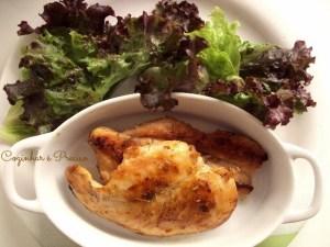 Esse frango dourado é fácil de fazer e muito gostoso.
