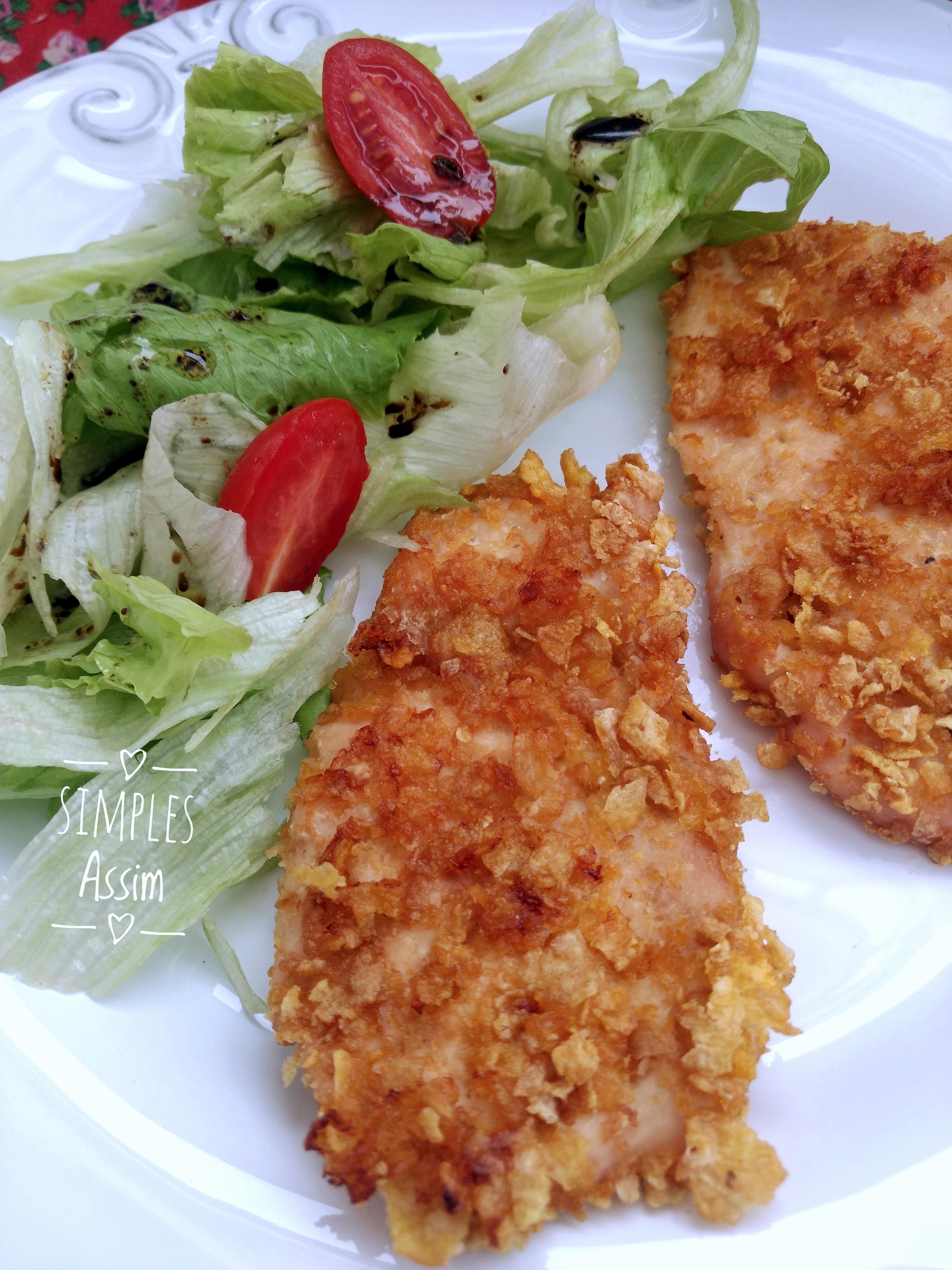Esse frango crocante é delicioso e saudável pois é feito no forno
