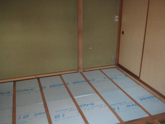 畳の表替え 工事中