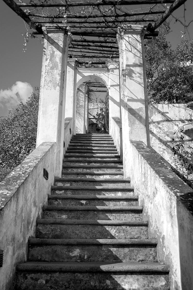 Scalea pergolata del Giardino della Minerva a Salerno. Foto di Sossio Mormile