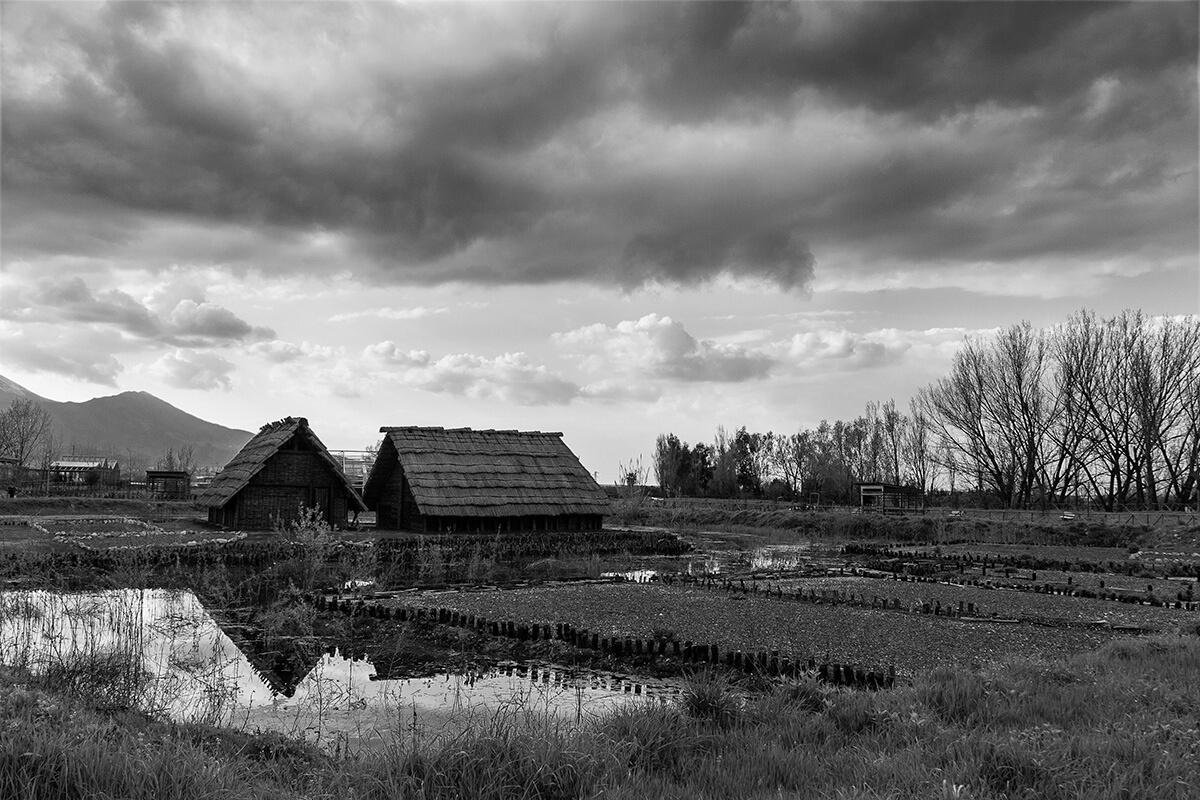 Insediamento del parco archeo-fluviale di Longola. Foto di Sossio Mormile