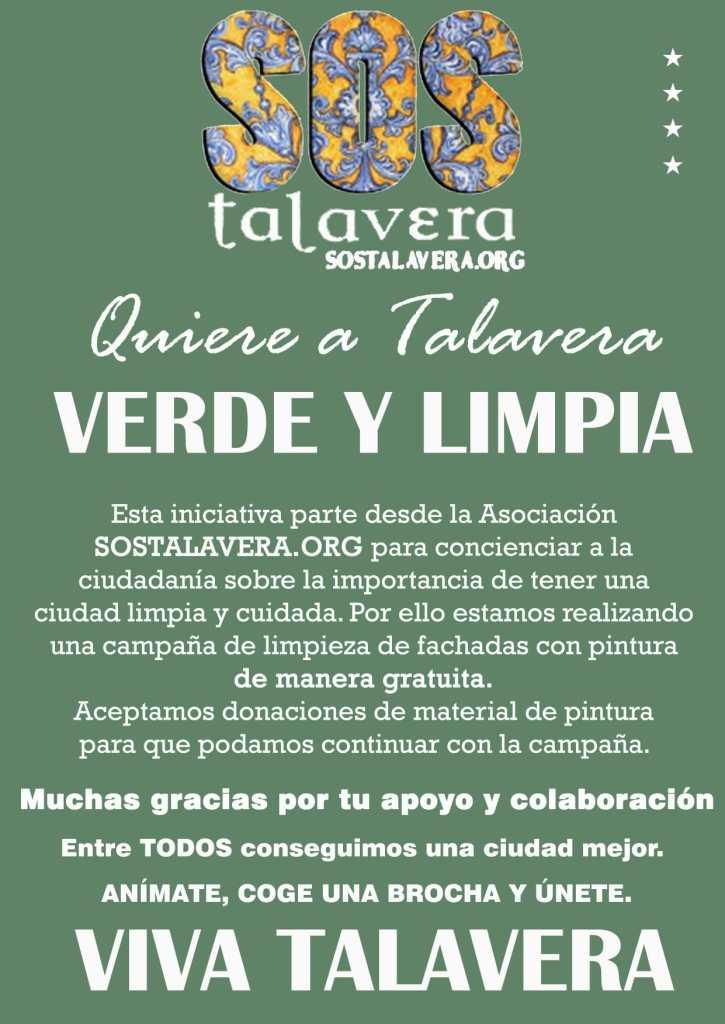 CARTEL-SOS-TALAVERA-QUIERE-VERDE-LIMPIA-CAMPAÑA-INTERVENCION-FACHADAS-GRAFITIS-LIMPIEZA-COMARCA
