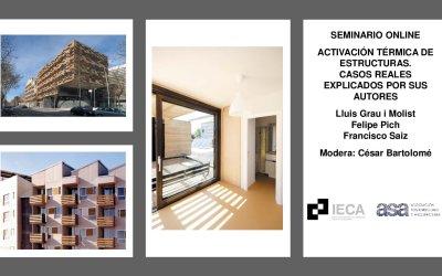 """Video seminario """"Activación térmica de estructuras. Casos reales"""""""