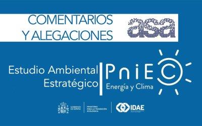 Comentarios y alegaciones ASA al Estudio Ambiental Estratégico del PNIEC