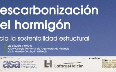 Jornada descarbonización hormigón, hacia la sostenibilidad estructural (presencial)
