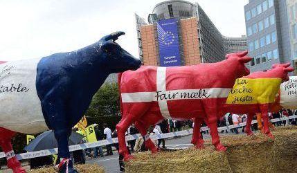 protesta sector lacteo Bruselas El Pais