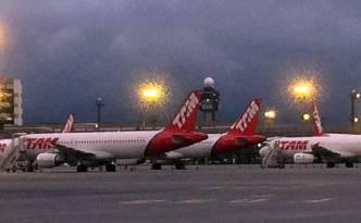 Aviões no aeroporto