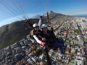 Parapente na Cidade do Cabo