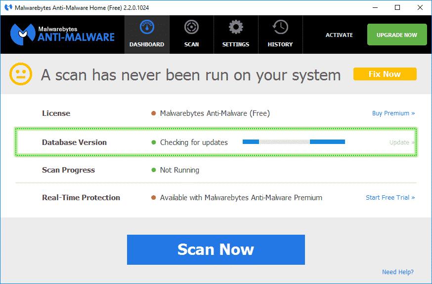 Database_Version_Malwarebytes_Anti_Malware_sos-malware Tutorial Malwarebytes Anti-Malware
