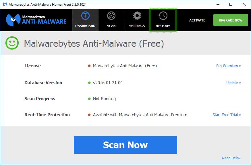 History_Malwarebytes_Anti_Malware_sos-malware. Tutorial Malwarebytes Anti-Malware
