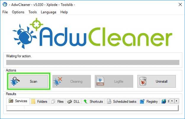 Scan_Option_Adwcleaner_sos-malware Tutorial Adwcleaner - Scan Option