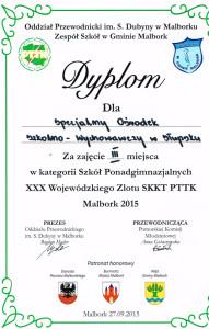 Dyplom Malbork
