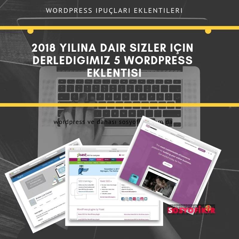 2018 wordpress eklentileri