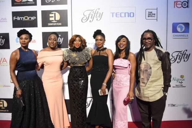 FIFTY Cast & Crew- Nse Ikpe Etim, Ireti Doyle, Mo Abudu, Omoni Oboli, Dakore Egbuson-Akande & Biyi Bandele