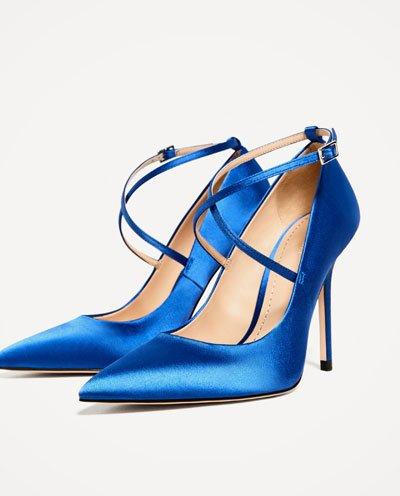 Zara satin heels