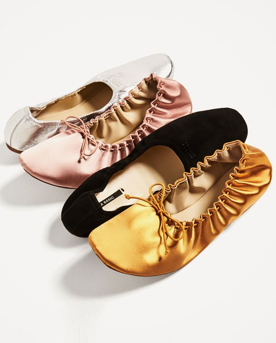 zara foldable balerinas