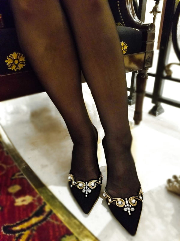 luxury suede shoes by Rene Caovilla