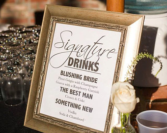 Signature Drinks for Your Wedding